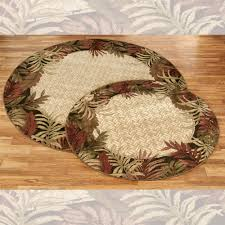 Round Straw Rug by Belantara Tropical Area Rug