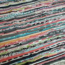 Rag Area Rug Rag Rug Large Scrap Multi Color From Yourgreateststory
