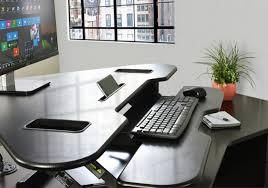 Height Adjustable Corner Desk by Desk V000c Vivo Corner Deluxe Height Adjustable Tabletop Desk