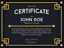 professional dark certificate template psd