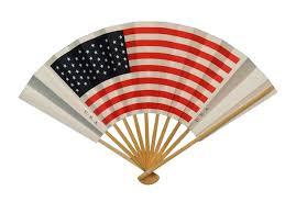japanese folding fan sensu japanese traditional handheld folding fan us american flag