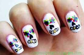 nailsn u0027cupcakes sugar skull nails