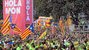 hundreds of thousands march in barcelona for catalonia