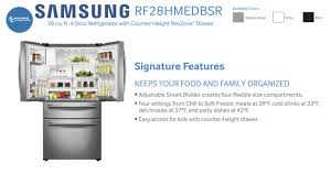 French Door Fridge Size - samsung appliance french door refrigerator rf28hmedbsr at