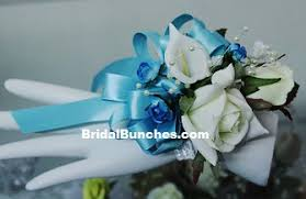 Turquoise Corsage Aqua Blue Turquoise Rose White Rose U0026 Calla Lily Wedding Flowers