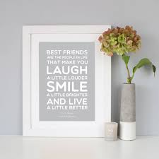 best friend t quote print by hope and love