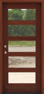 Shaker Style Exterior Doors Exterior Mahogany Single Doors