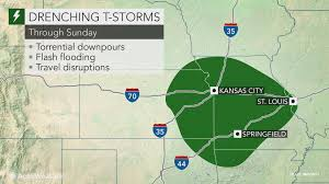 heavy storms to raise flood risk in central us through the weekend