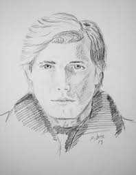 portraits by adron quick sketch of man in coat