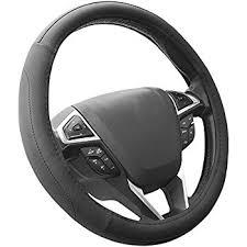 corvette steering wheel cover amazon com bdk genuine leather car steering wheel cover 13 5