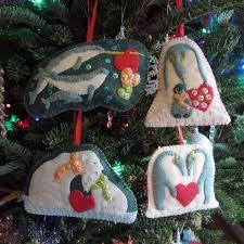 polar family felt ornament patterns u2013 narwhals u0026 penguins