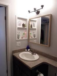 Bathroom Medicine Cabinets Ideas Converted Metal Medicine Cabinet Into Open Shelves I Was