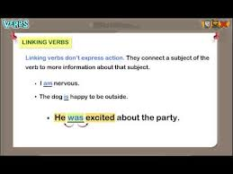 linking verbs lesson for grade 3 kids by turtlediary youtube
