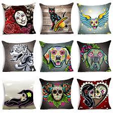 online get cheap home decor cushion cover dogs aliexpress com