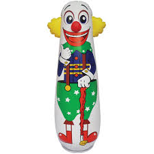 amazon com old style clown punching bag inflatable bounce back