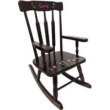 Ladybug Rocking Chair Childrens Victorian Wooden Rocking Chair Espresso Color