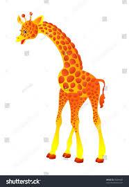 cute cartoon giraffe isolated on white stock vector 46284400