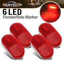 led clearance lights motorhomes amazon com partsam 4 side led marker lights red outline ls bus