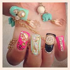 uñas rosa menta y negro liz uñas pinterest duck feet nails