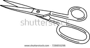 scissors small metal handdraw sketch doodle stock vector 728855296