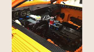 lego porsche life size full scale porsche 911 gt3 rs brings a lego kit to life