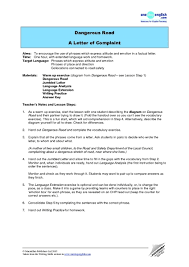 writing a letter of complaint esl lesson plan cover letter templates