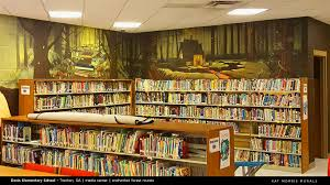 kat morris murals best chattanooga mural painter media center murals the next project was to find something to go over the two short walls over the fiction section of the media center