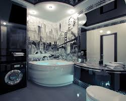 world bathroom ideas fantastic american themed mural bathroom with ceramic arc shape