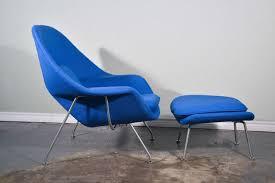 eero saarinen womb chair and ottoman in vintage girard fabric at