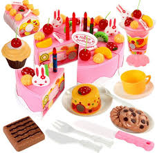 jeux de cuisine de gateaux d anniversaire 75 pc bricolage jeux de simulation de fruits gâteau d anniversaire