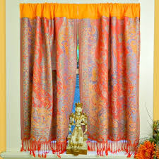 Scarf Curtains No Sew Boho Scarf Curtains Craftfoxes