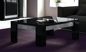 black and glass coffee table modern black side table beetrans info