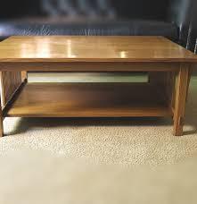 stickley mission oak coffee table ebth round lo thippo