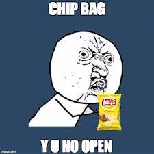 Meme Chip - potato chip problems imgflip