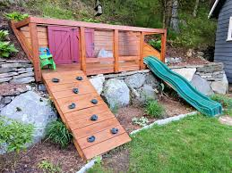 hillside playground built for my kids to maximize space in our