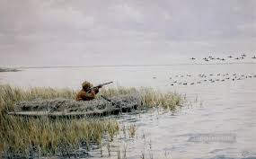 duck hunting painting arthur b frost duck shooting from a blind cynegetic