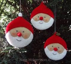 felt santa ornaments santa ornaments