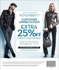 danier leather outlet danier leather customer appreciation save 25 lowest ticketed
