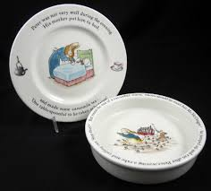 wedgewood rabbit rabbit wedgwood bowl and plate beatrix potter etruria