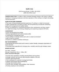 Retail Assistant Manager Resume Examples by 36 Manager Resumes In Word