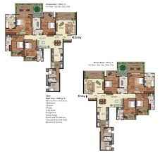 2500 Sq Ft Floor Plans Prateek Edifice Luxury Apartments For Sale In Noida Sector 107