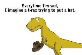 Meme Sad - dinosaur funny sad meme picture