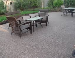 Brushed Concrete Patio Backyard Patio Companies Stamped Concrete Concrete Patio