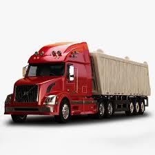 red volvo truck 3d model volvo vnl670 trailer truck cgtrader