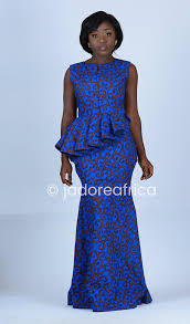 blue african print maxi dress african prom dress african mm