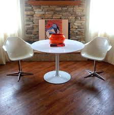 vintage mid century tulip table in the manor of eero saarinen 42