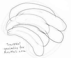 how to draw a banana step by step arcmel com