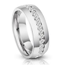 mens titanium wedding bands men s eternity diamond titanium wedding band ring 1 3 carats