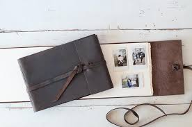handmade leather photo albums leather artisan books by blue sky papers