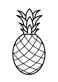 fruit pineapple coloring page fruits coloring pages of
